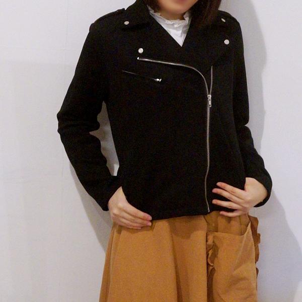 フェリシモ 浜島 直子さん はまじとコラボ 伸びる! 着心地らくちんライダースジャケット