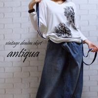 アンティカantiqua デニムスカートサロペット