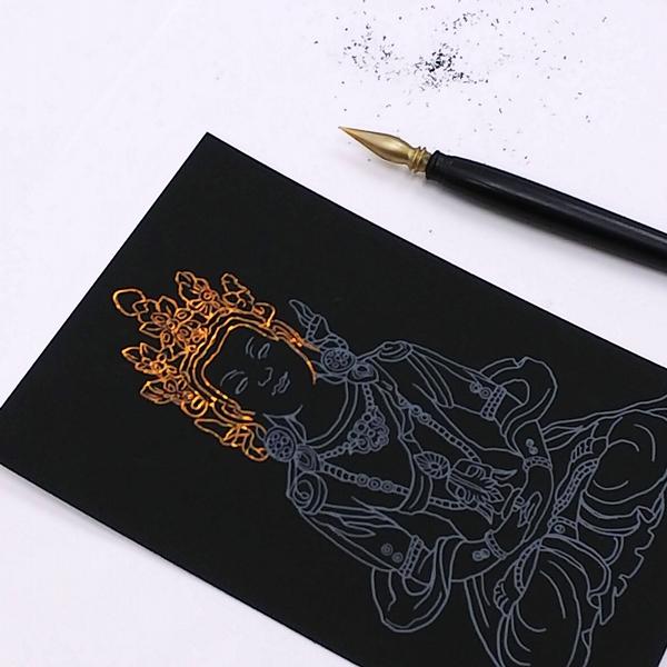 フェリシモおてらぶミニツク 削仏さくぶつ スクラッチアート