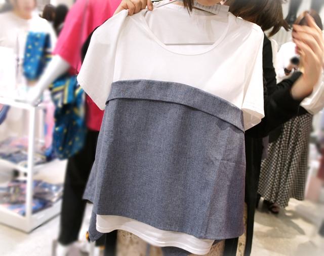フェリシモ リブ イン コンフォート Tシャツにビスチェを重ねたみたいな華やぎトップスの会