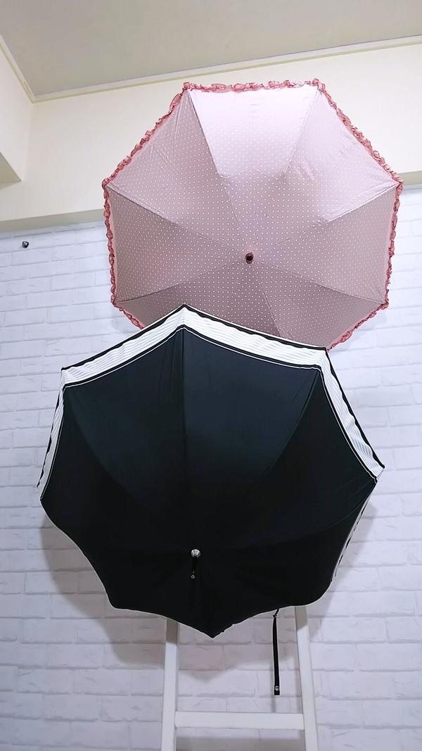 ベルメゾン 折りたたみ日傘 晴雨兼用 二重張り かわず張り日傘