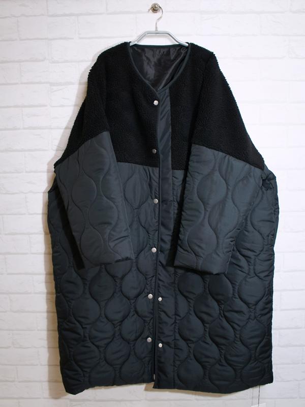 アンティカantiqua ボアキルトコート ブラック item2