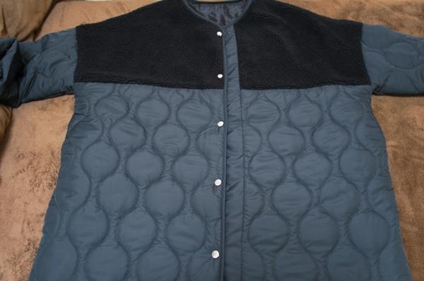 アンティカantiqua ボアキルトコート ブラック item3
