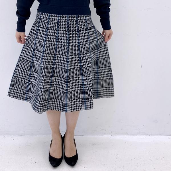 フェリシモfeliissimo ドッキングニットワンピース ネイビー スカート