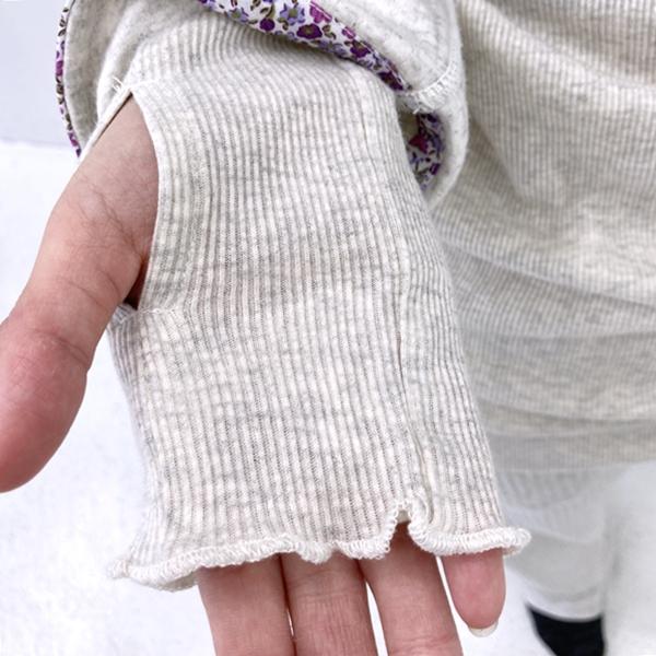 フェリシモfelissimo エニワイズ パジャマインナー 指穴 十二分袖