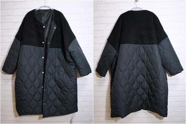 アンティカantiqua ボアキルトコート ブラック item