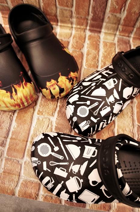 クロックスワークシューズ厨房ビストロ滑りにくい靴